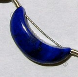 Lapis Gemstone  Moon Shape