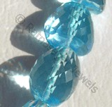 Blue Topaz Gemstone  Faceted Nuggets