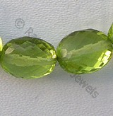 Peridot Gemstone Beads  Oval Faceted
