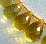 Honey Quartz  Tear Drops Briolette
