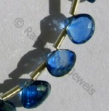 Kyanite Gemstone Beads  Heart Briolettes