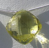 Lemon Quartz  Puffed Diamond Cut