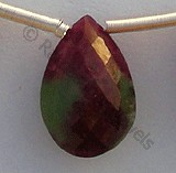 Ruby Zoisite  Flat Pear Briolette