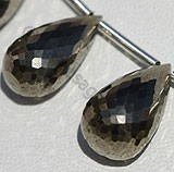 Pyrite Beads Tear Drops Briolette