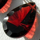 Garnet Gemstone Concave Cut Pan