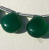 Green Onyx Gemstone Heart Plain