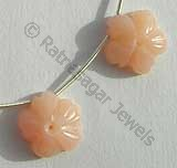 Pink Opal Gemstone  Gemstone Flower Beads