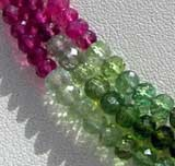Tourmaline Gemstone Beads  Faceted Roundels