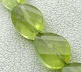 Prehnite Gemstone  Twisted Oval