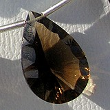 Smoky Quartz Gemstone  Concave Cut Pan