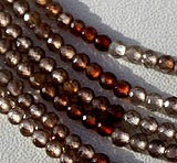 Brown Zircon Gemstone Faceted Rounds