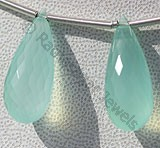 Dyed Blue Chalcedony Tear Drops Briolette