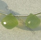 Prehnite Gemstone  Onion Shape