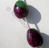 Ruby Zoisite  Faceted Nuggets