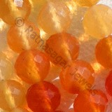 Mexican Fire Opal  Gemstone  Faceted Rounds