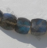 Labradorite Blue Power Faceted Cube