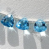 Blue Topaz Gemstone Trilliant