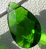 Chrome Diopside  Flat Pear Briolette