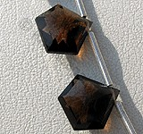 Smoky Quartz Gemstone Polygon Diamond Cut