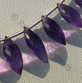 Amethyst Gemstone Beads  Dew Drops