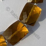 Cognac Quartz  Faceted Rectangles