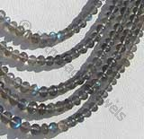 Labradorite Gemstone  Faceted Roundels