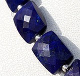 Lapis Gemstone Faceted Rectangles