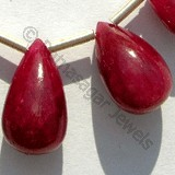 Ruby Gemstone Plain Tear Drops