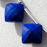 Lapis Gemstone Puffed Diamond Cut
