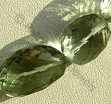 Green Amethyst Gemstone Faceted Nugget