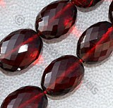 Garnet Gemstone Oval Faceted