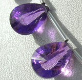 Amethyst Gemstone Both Side Concave Cut