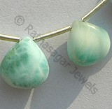 Larimar Beads  Heart Plain