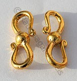 18k Gold Wide S Clasps