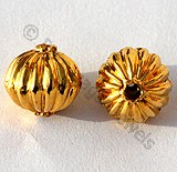 18k Gold Granulated Round Beads