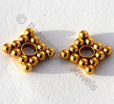 18k Gold Diamond Spacer Beads