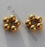 18k Gold Small Daisy Spacer Beads