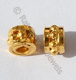 18k Gold Cylindrical Granulation Beads