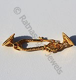 18k Gold Two Side Cap Toggle Clasps