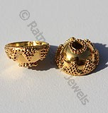 18k Gold Small Granulation Bead Caps