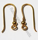 18k Gold Ear Wire with Coil