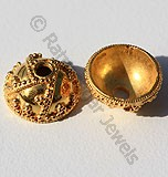 18k Gold Heavy Granulation Bead Caps