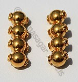 18k Gold Jewelry Spacer Beads