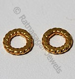 18k Gold Twisted Round Spacer Beads
