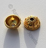 18k Gold Bead Caps