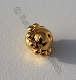 18k Gold Single Granulated Beads
