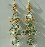 Gemstone Gold Earrings
