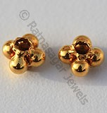 18kGold Square Flower Spacer Beads