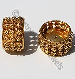 18k Gold Large Intricate Granulated Beads