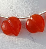 Carnelian Gemstone Faceted Chubby Heart
